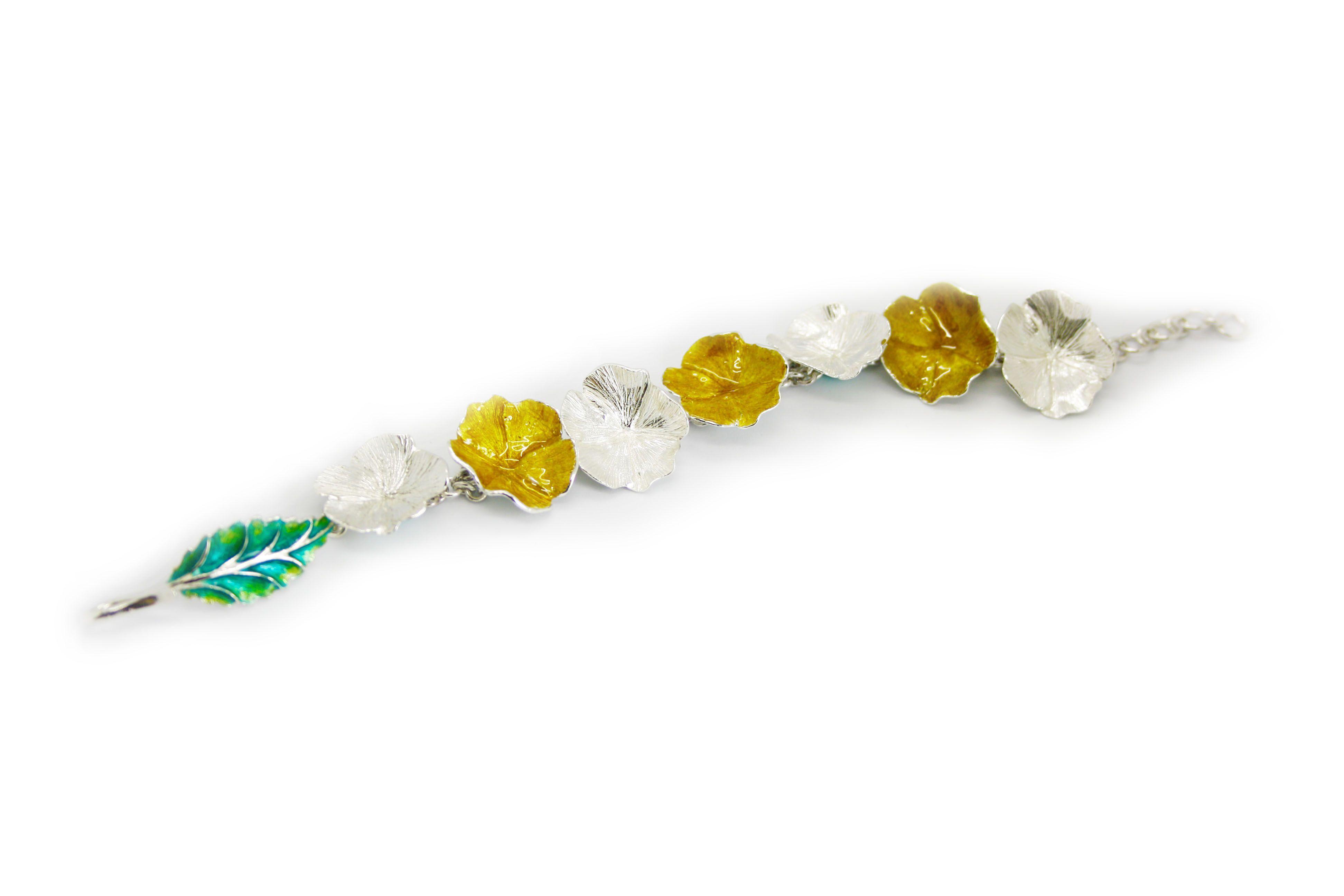 pulsera flores abierta